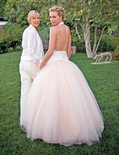Ellen Degeneres and Portia de Rossi - another beautiful wedding picture