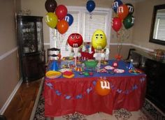 M and M Candy Birthday Party, Baby Shower, Bridal Shower Centerpieces. Playpatterns.net