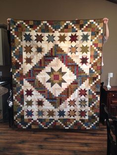 Monterry Medallion quilt made by Kim at Stillmeadow Quilting 2014.  This is a Terry Atkinson pattern.