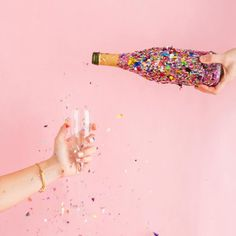 Confetti and bubbles! Some things just go hand in hand. It's Your Birthday, Happy Birthday, Happy B Day, Pink Aesthetic, Creative Photography, Fashion Photography, Wall Collage, Just Go, Champagne