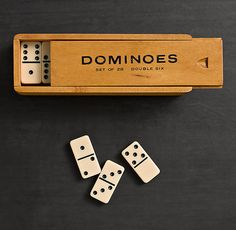 I wonder if my woodworking friend could make this to story my grandmother's ivory dominoes?
