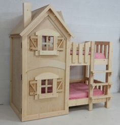 An adorable bunk bed for girls by Imagine THAT! Playhouses & More. Kids Princess Bed, Princess Bunk Beds, Girl Bedroom Designs, Girls Bedroom, Bedroom Ideas, Cowgirl Room, Girls Bunk Beds, Ocean Room, Kids Bedroom Furniture