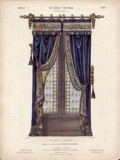 I have always admired beautiful drapery, ball gowns for windows! Victorian Curtains, Victorian Windows, Victorian Parlor, Victorian Homes, Luxury Curtains, Velvet Curtains, Drapes And Blinds, Drapes Curtains, Curtain Patterns