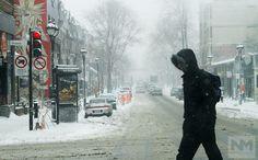 Nevadas en el este de Canadá bajan las temperaturas
