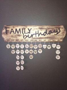 Family Birthday Sign by PrettyHomeStuff on Etsy, $45.00