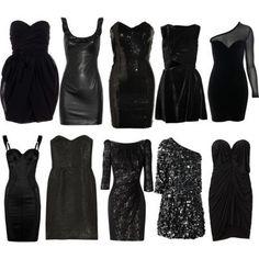 black, black dress, chic, clothes, dress