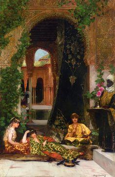 """""""Harem Women"""" - Benjamin Constant (orientalist french painter)"""