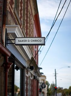 fantastic blade sign for Daniel Chirico (Australian bakery)