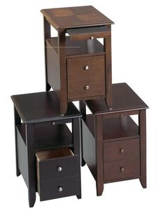 3 Finishes Drawer Storage Cupholder Pullout