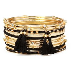 Forever 21 Rhinestone Bangle Set (165 CZK) ❤ liked on Polyvore featuring jewelry, bracelets, forever 21, hinged bracelet, forever 21 jewelry, rhinestone bangle bracelet and bangle jewelry