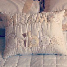 Wedding mr & mrs cushion