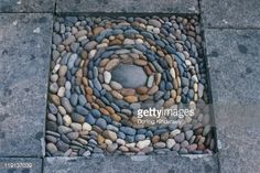 Pebble Mosaic On Patio Stock Photo   Getty Images