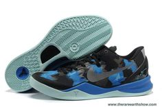 555035 707 Nike Zoom Kobe 8 (VIII) Black Blue Jade Basketball Shoes Style Outlet