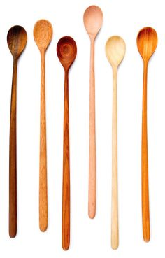 Gorgeous handmade wooden tasting spoon set