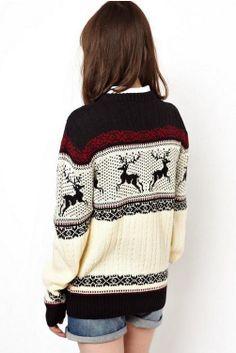 reindeer knit jumper