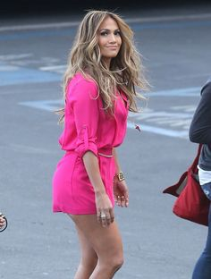 We love Rompers!! Jennifer Lopez…in Daily Chic Pink <3