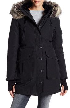 BCBGeneration - Faux Fur Trimmed Heavy Weight Parka