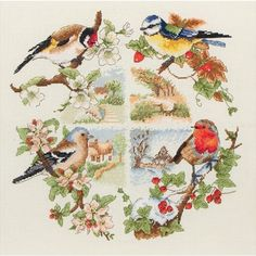 Coats Crafts Birds and Seasons Cross Stitch Kit
