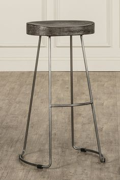 Amazon.com: Hillsdale Hobbs Tractor Non-Swivel Counter Stool, Pewter/Weathered Gray: Kitchen & Dining
