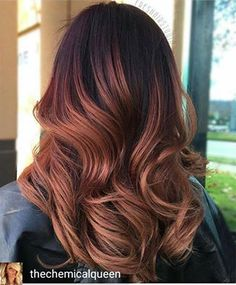 Formulas, Pricing & HOW-TO! #behindthechair #ombre #colormelt #auburn #brunette