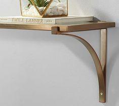 Brass Shelf #potterybarn