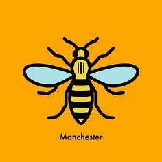 Manchester Worker Bee designed by TJ Cosgrove. Manchester Love, Manchester Worker Bee, Bees And Wasps, Bee Tattoo, Bee Art, Bee Design, Save The Bees, First Tattoo, Insects