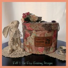 Wedding Card Box Mad Hatter Alice in by WillOtheWispWedding, $175.00