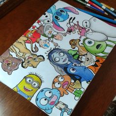Best weapons in the world. Doodle Art Drawing, Cool Art Drawings, Pencil Art Drawings, Art Drawings Sketches, Cartoon Drawings, Easy Drawings, Drawing Drawing, Disney Character Drawings, Cute Disney Drawings