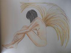 Boceto de Angel colores acuarelables Susana Soto Poblette