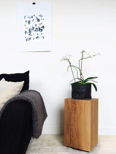 Monolithic Oak Block Side Table, by BANTHORPE + CO. Floating Nightstand, Bedside, End Tables, Light Colors, Flooring, Storage, Wood, Furniture, Design
