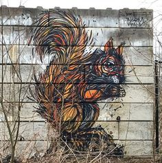 Cet artiste réalise de magnifiques fresques d'animaux multicolores qui rendent les rues de sa ville plus joyeuses   Daily Geek Show