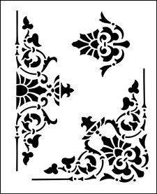 Border stencils from The Stencil Library. Stencil catalogue quick view page 11.