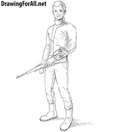 How to Draw a Vault Dweller. Learn to draw a character from Fallout with this drawing tutorial: http://www.drawingforall.net/how-to-draw-the-vault-dweller/