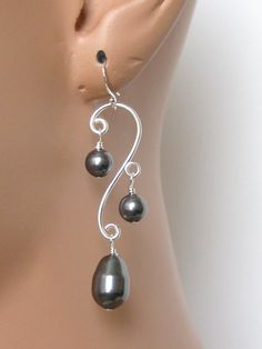 Swarovski Crystal Pearls and Sterling Silver