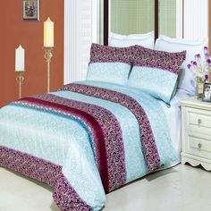 GoLinens Kimberly Duvet Cover Set with Pillow Shams – Leaf Print, Combed Cotton – Durable Comforter Cover - 3 Piece, California King Full Size Comforter Sets, Cotton Bedding Sets, Comforter Cover, Duvet Sets, Duvet Cover Sets, Bed Sets, Verona, Egyptian Cotton Duvet Cover, King Pillows