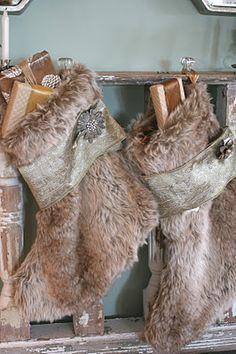 Furry Christmas Stockings
