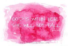 2 cats & chloe: watercolor Psalm 46:5