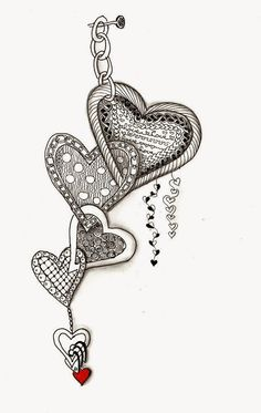 Efie goes Zentangle-art-tangle-club valentine