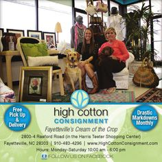 High Cotton Consignment - Consignment Fayetteville - NC - great deals on designer apparel - resale