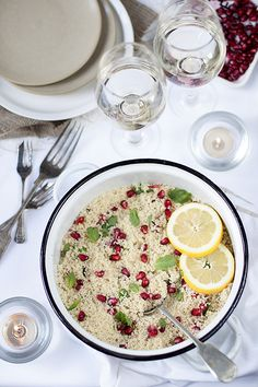 Lemon & Pomegranate Couscous