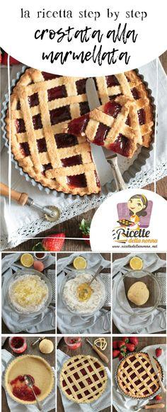 Crostata alla marmellata, ricetta step by step su http://www.ricettedellanonna.net/