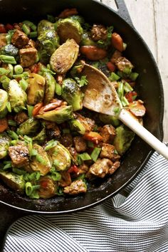 Recipe: 15 Minute Brussels Sprout & Tempeh Stir-Fry | In Pursuit of More