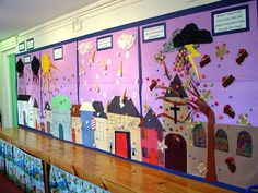 Colorful and Funny Displays for Kindergarten Classroom Design Ideas Best Colorful Design of Kindergarten Classroom Displays Ideas Class Displays, School Displays, Library Displays, Classroom Displays, Teaching Displays, Classroom Walls, Classroom Design, Future Classroom, Classroom Decor