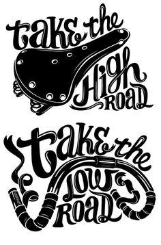 #bike #fixie take the high road...