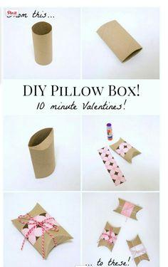 Minha vida Criativa: Diy: caixinhas com rolo de papel !