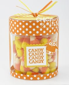 Halloween jar - cute idea using small containers