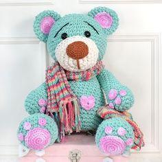 Amigurumi Do Zero Crochet Animal Patterns, Crochet Doll Pattern, Stuffed Animal Patterns, Amigurumi Patterns, Amigurumi Doll, Crochet Animals, Doll Patterns, Crochet Disney, Crochet Bear