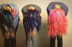Crazy hair discovered by Rainbow minion on We Heart It Hipster Hairstyles, Short Hairstyles For Women, Cute Hairstyles, Dip Dye Hair, Dyed Hair, Pelo Multicolor, New Mode, Alternative Hair, Alternative Fashion