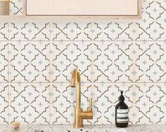 Bristol Kitchen Bathroom Backsplash Tile Wall Stair Floor | Etsy Floor Decal, Floor Stickers, Wall Stickers, Tile Decals, Wall Tiles, Vinyl Decals, Peel And Stick Tile, Stick On Tiles, Denpasar