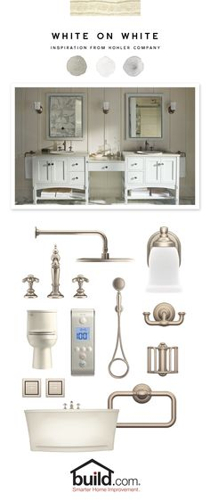 Create your own relaxing escape in the master bathroom with these spa-like amenities from Kohler. This high styled inspiration galleries can help you quickly decide on how to complete that remodel you are contemplating and finally give yourself some pampering!